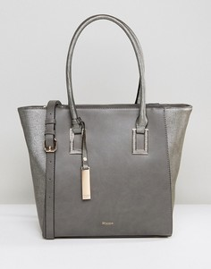 Структурированная сумка-тоут серого оттенка Dune Damazing - Серый