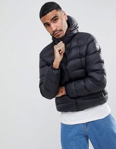 Черная дутая куртка с капюшоном North Sails - Черный