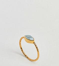 Позолоченное кольцо с аквамарином Kingsley Ryan - Золотой