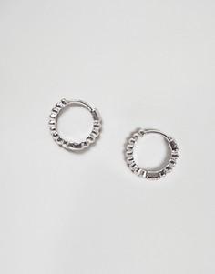 Серьги кольца Nylon - Серебряный
