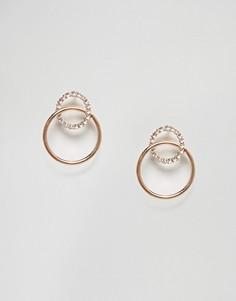 Cерьги-кольца Nylon - Золотой
