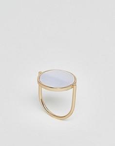 Кольцо с камнем Nylon - Золотой