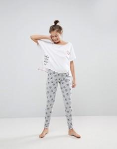 Пижама с футболкой и леггинсами ASOS Kindness & Love - Мульти
