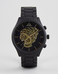 Часы с покрытием и золотистым тигром ASOS Black - Черный