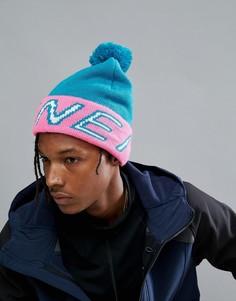 Синяя шапка-бини с помпоном и логотипом ONeill Reissue - Синий O`Neill