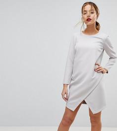 Асимметричное платье мини ASOS PETITE - Серый