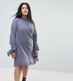 Платье-рубашка в стиле casual от ASOS CURVE - Серый