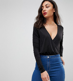 Боди с запахом Missguided Tall - Черный