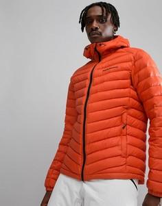 Оранжевая дутая куртка с капюшоном Peak Performance Frost - Оранжевый
