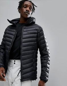 Черная дутая куртка с капюшоном Peak Performance Frost - Черный