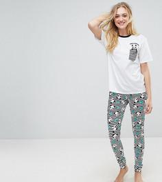 Пижамная футболка и леггинсы ASOS TALL - Мульти