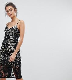 Кружевное платье миди Parisian Tall - Черный