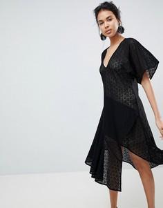 Кружевное платье с V-образным вырезом Keepsake - Черный