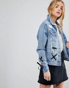 Джинсовая куртка со шнуровкой Urban Bliss - Синий