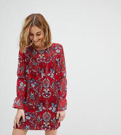 Свободное платье с цветочным принтом Reclaimed Vintage Inspired - Красный
