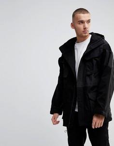 Oversize-куртка в стиле пэчворк Fairplay - Черный
