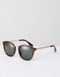 Коричневые круглые солнцезащитные очки AJ Morgan - Коричневый