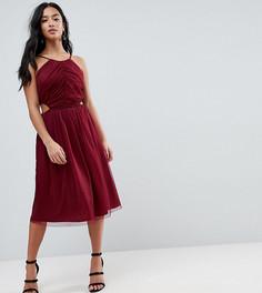 Платье миди с вырезами по бокам ASOS PETITE - Красный