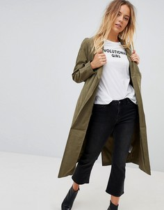 Мягкая куртка с запахом Vero Moda - Зеленый