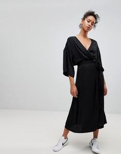 Платье с запахом Moss Copenhagen - Черный