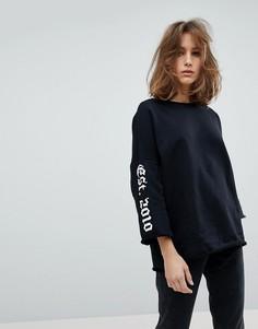 Свитшот с рукавами клеш Moss Copenhagen - Черный