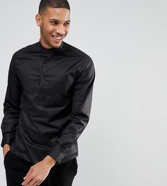 Рубашка с укороченной планкой на пуговицах Noak - Черный