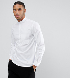 Рубашка с укороченной планкой на пуговицах Noak - Белый