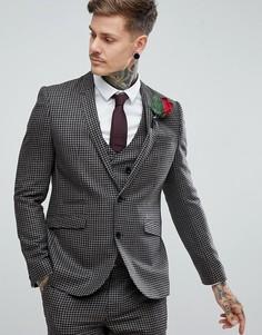 Приталенный пиджак из 100% шерсти ASOS - Бежевый