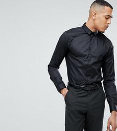 Облегающая рубашка со скрытой планкой Noak TALL - Черный