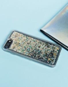 Чехол для iPhone 6/7/8 Plus с блестками Skinnydip - Мульти