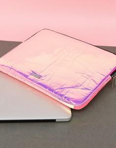 Чехол для ноутбука с розовым голографическим принтом Skinnydip - Мульти