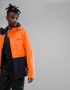 Неоново-оранжевая водонепроницаемая горнолыжная куртка Oakley Highline BZS - Оранжевый