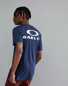 Темно-синяя футболка с логотипом на спине Oakley 50-Bark - Темно-синий