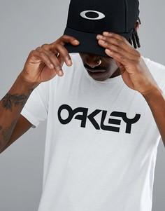 Белая футболка с большим логотипом Oakley 50-Mark II - Белый