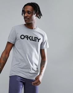 Серая меланжевая футболка узкого кроя с крупным логотипом спереди Oakley 50-Mark II - Серый