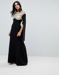 Трикотажное платье макси с отделкой A Star Is Born - Черный