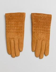 Замшевые перчатки с заклепками New Look - Желтый