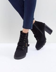 Походные ботинки средней высоты со шнуровкой Faith - Черный