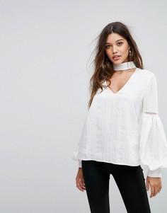 Блузка с пышными рукавами на манжете Forever New - Белый
