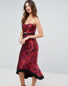 Жаккардовое платье миди Forever New Premium - Мульти