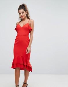 Платье миди с оборками Forever New - Красный