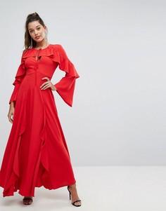 Платье макси с оборками Forever New - Красный