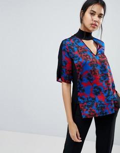 Блузка с цветочным принтом Sisley - Мульти