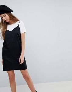 Платье-комбинация миди ASOS - Черный