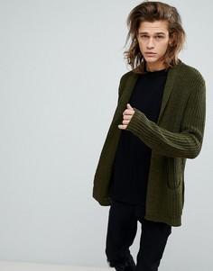 Кардиган цвета хаки ASOS - Зеленый