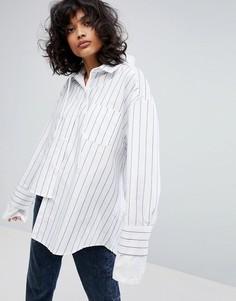 Рубашка с капюшоном STYLENANDA - Белый