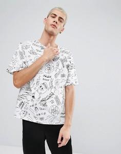Белая футболка с надписью Cheap Monday - Белый