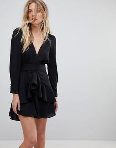 Платье с глубоким вырезом For Love and Lemons - Черный