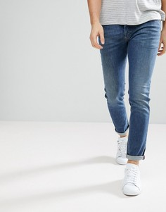 Выбеленные джинсы Diesel Sleenker - Темно-синий