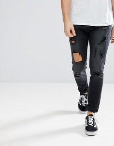 Черные рваные джинсы Diesel Tepphar - Черный
